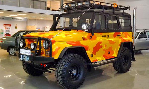 UAZ начал продажи внедорожников специальной серии Trophy
