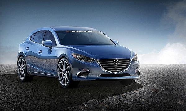Новую Mazda3 срисовали со шпионских снимков