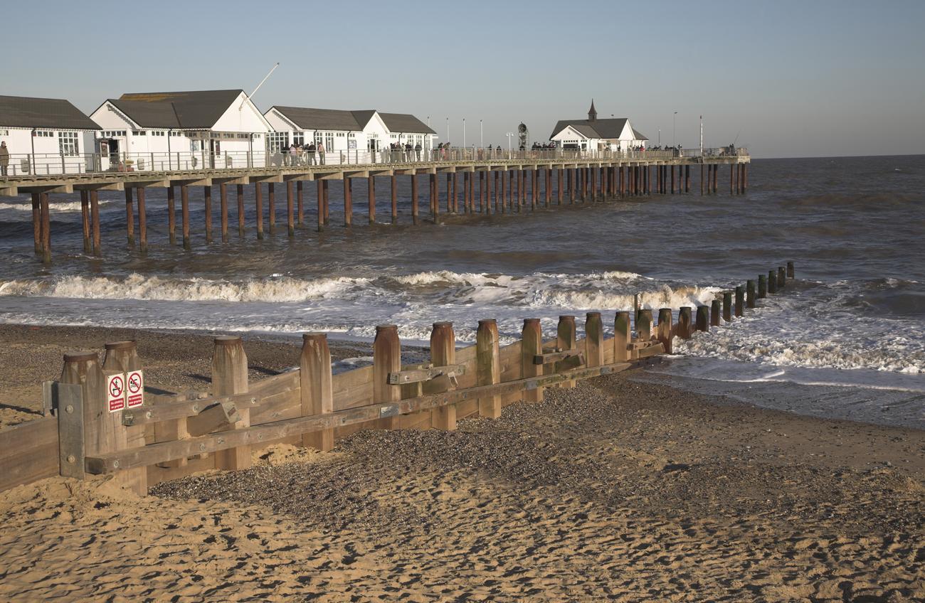 Southwold Pier Beach,Уэйвени, Великобритания