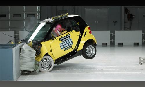 Страховой институт дорожной безопасности США провел крэш-тест Smart ForTwo