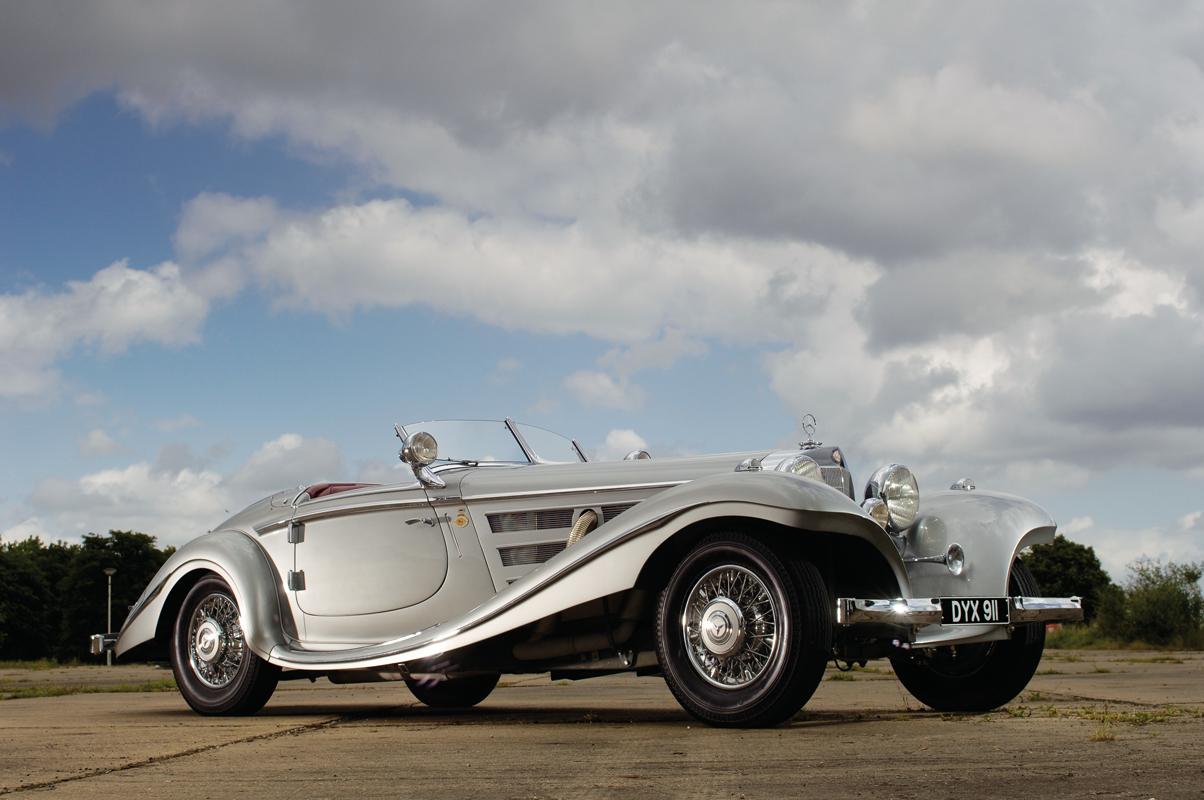 Mercedes-Benz 540K с кузовом Spezial-Roadster выпуска 1937 года из коллекции хозяина «Формулы-1»Берни Экклстоуна. Таких автомобилей выпустили только 25 штук