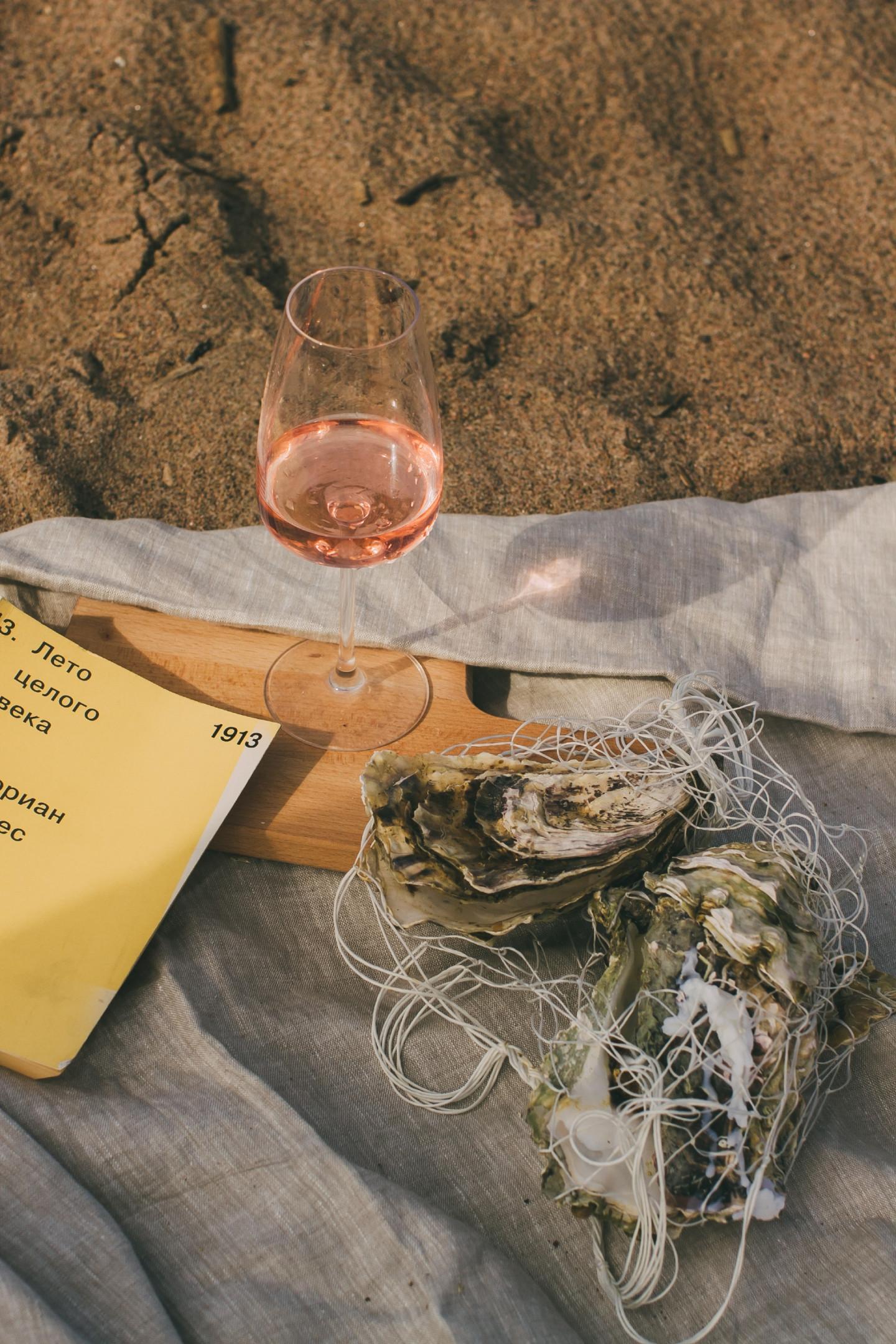 Черноморские устрицы с розе