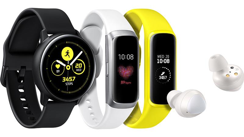 Часы Galaxy Watch Active, серия недорогих браслетов Galaxy Fit и обновленные наушники Galaxy Buds