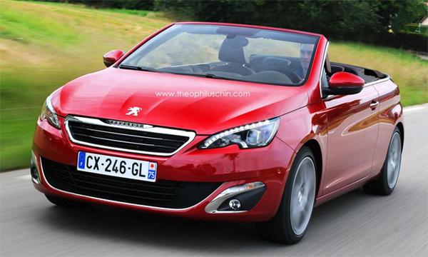 Первые изображения нового Peugeot 308 CC появились в сети