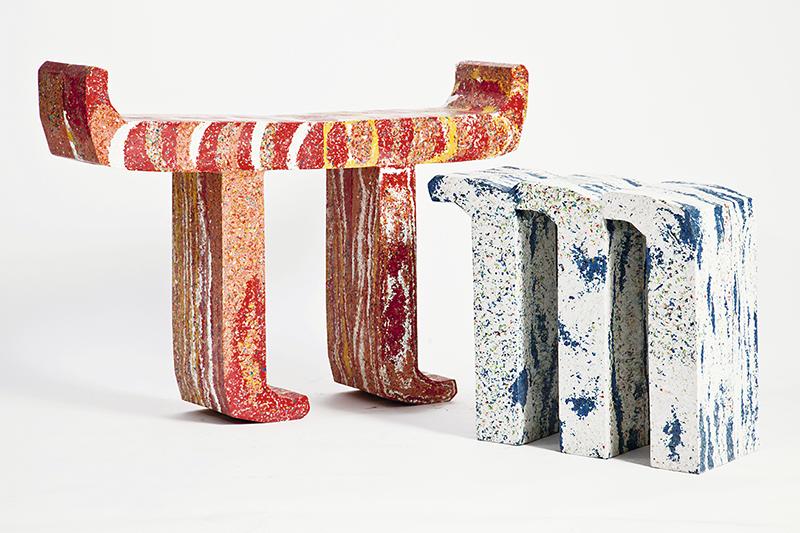 Табуреты М, дизайн Thing Thing, проект PlasticScene, Лондон, 2018