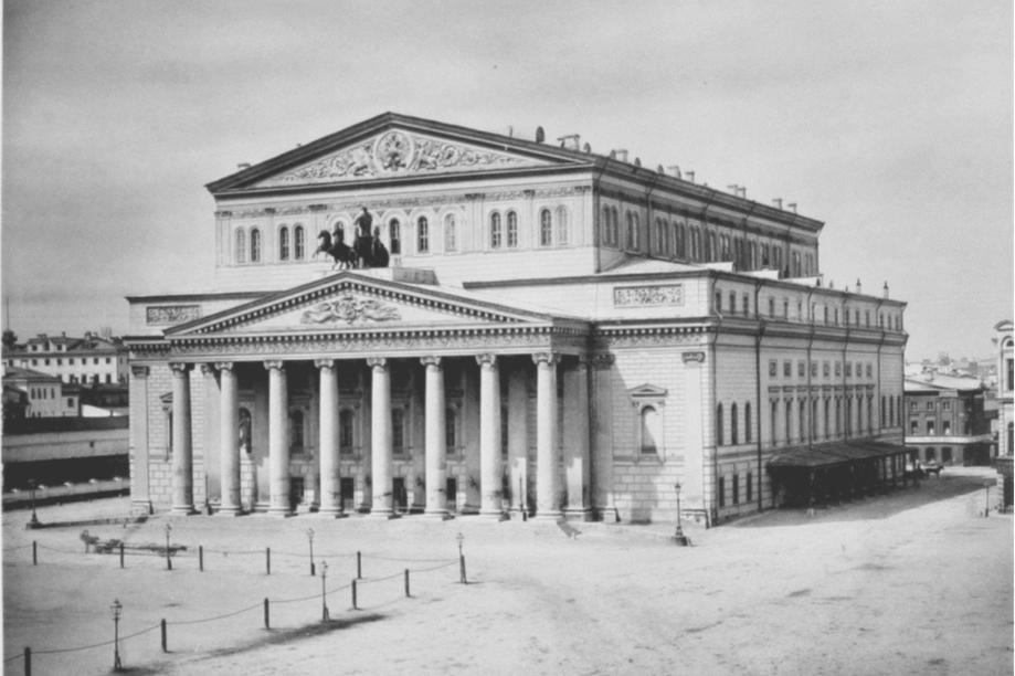 Большой театр, восстановленный по проекту архитектора А. Кавоса, 1883 год