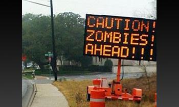 В США появились дорожные знаки, предупреждающие о появлении зомби