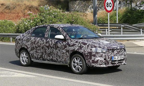 Lada Vesta замечена во время тестов в Испании