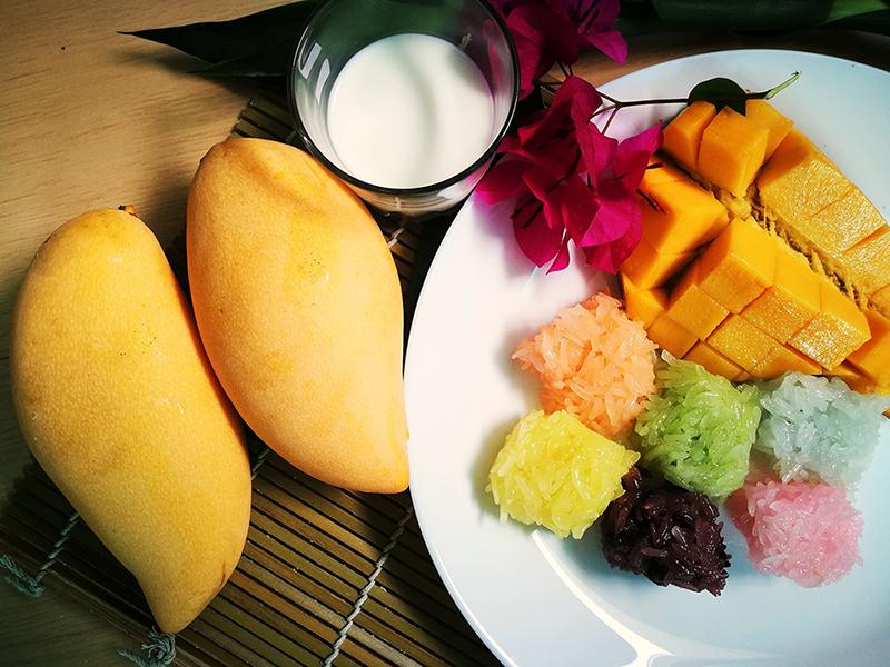 В манго достаточно много сахара