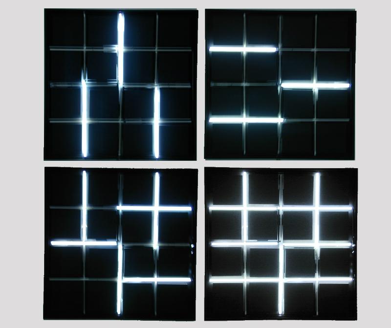 Франсуа Морелле. «Неон 0°–90°»,. 2016 (повтор работы 1965 года). Собрание Франсуа Морелле (Франция)