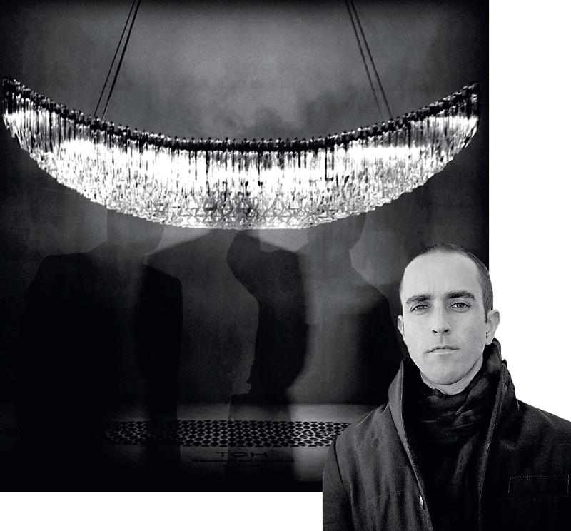 Рафаэль Наво;люстра Trigonometric Oval Hemisphere для Veronese