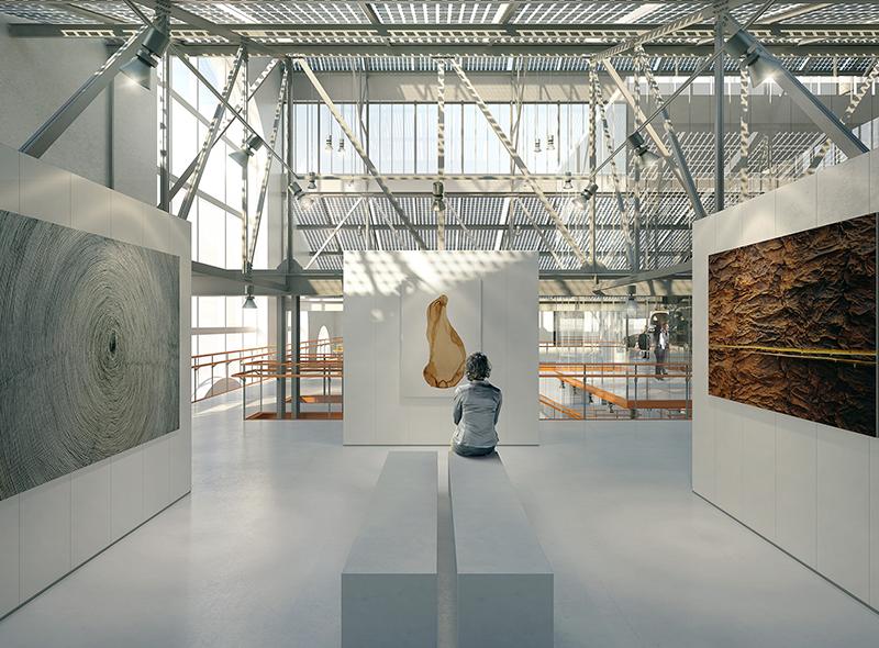 Эскиз одного из залов ГЭС-2 (проект Renzo Piano Building Workshop)