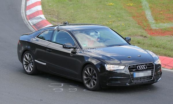 Новый Audi A5 Coupe замечен на тестах
