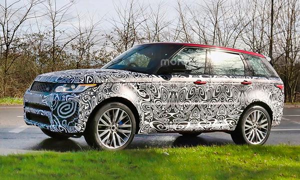 Обновленный внедорожник Range Rover Sport SVR получит 576-сильный мотор