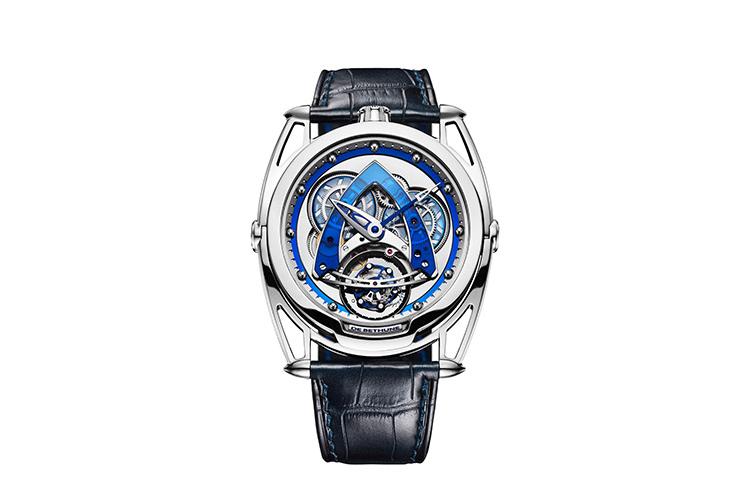 Часы DB28 Steel Wheels Sapphire Tourbillon, De Bethune