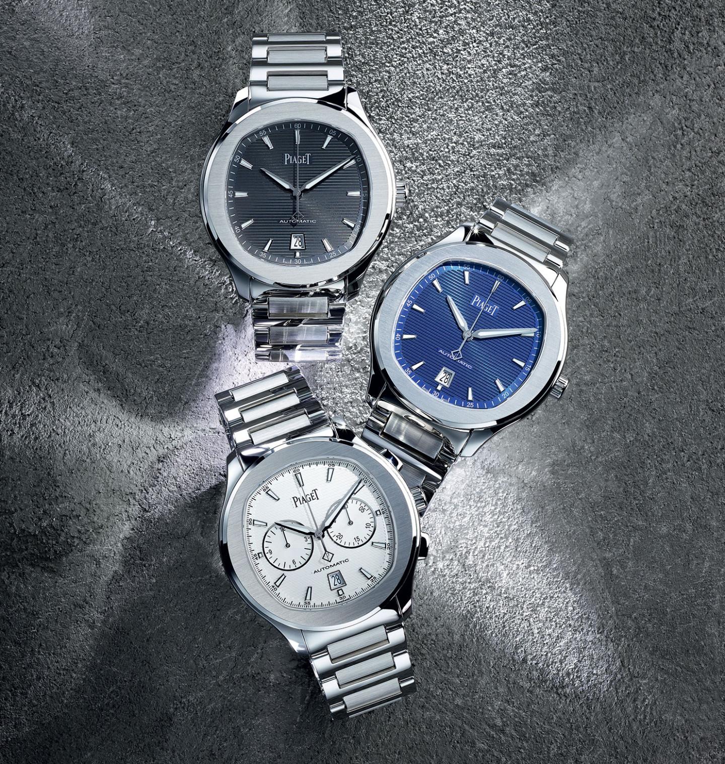 Линия стальных часов Piaget Polo S