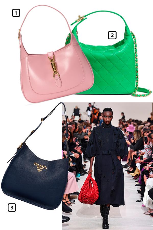 Valentino, осень-зима 2020/21  1)Сумка Gucci, 128 500 руб. (Gucci)  2)Сумка Chanel, 275 900 руб. (Chanel)  3)Сумка Prada, 125 000 руб. (Prada)