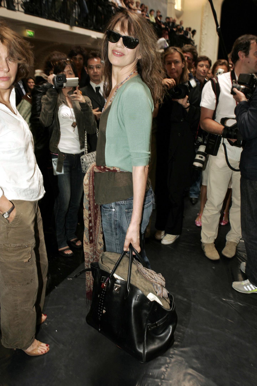 Джейн Биркин с сумкой Birkin Hermes