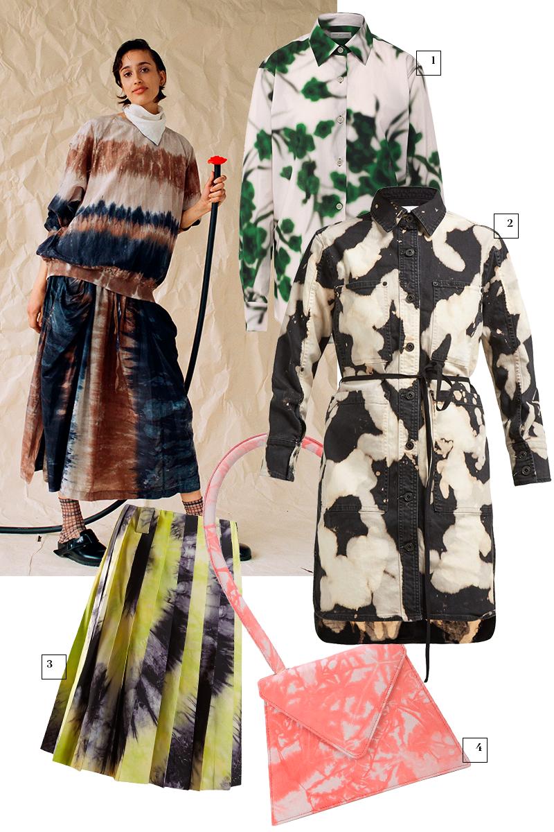 Кадр из лукбука Raquel Allegra  1) Dries Van Noten (ЦУМ), 29 950 руб. 2) Proenza Schouler (Net-a-Porter), £267 3) Prada (Matches Fashion), 126 785 руб. 4) Amélie Pichard (Farfetch), 39 022 руб.