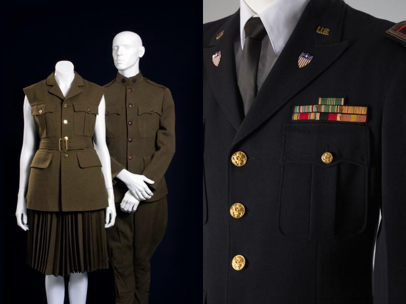 Comme des Garçons (Рэй Кавакубо), 1998 г.  Военная форма армии США периода Первой мировой войны, 1914-1918 гг.  Военная форма полковникаСША, 1950 г.