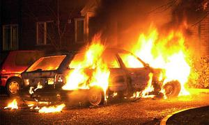 Минувшей ночью в Москве сгорело 11 автомобилей