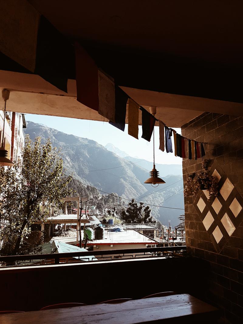 Вид с террасы одного из кафе