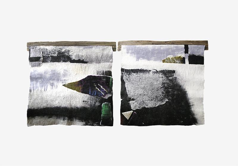 Зоя Ленденская-Большакова, диптих «Северный пейзаж», войлок