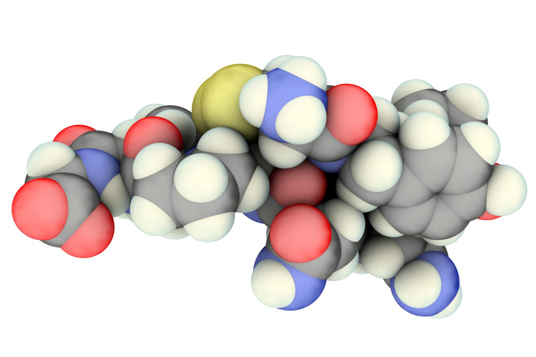 Молекулярная модель гормона окситоцин