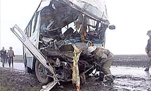 В Новгородской области автобус столкнулся с МАЗом