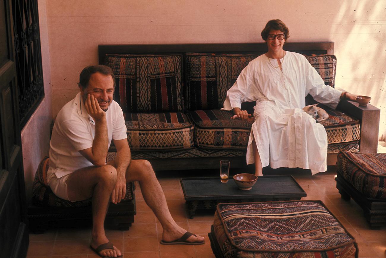 Пьер Берже и Ив-Сен Лоран, Марракеш, 1977
