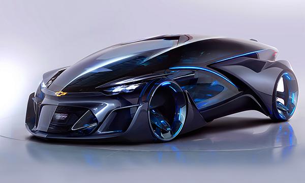 Chevrolet привез Шанхай беспилотный электрокар FNR