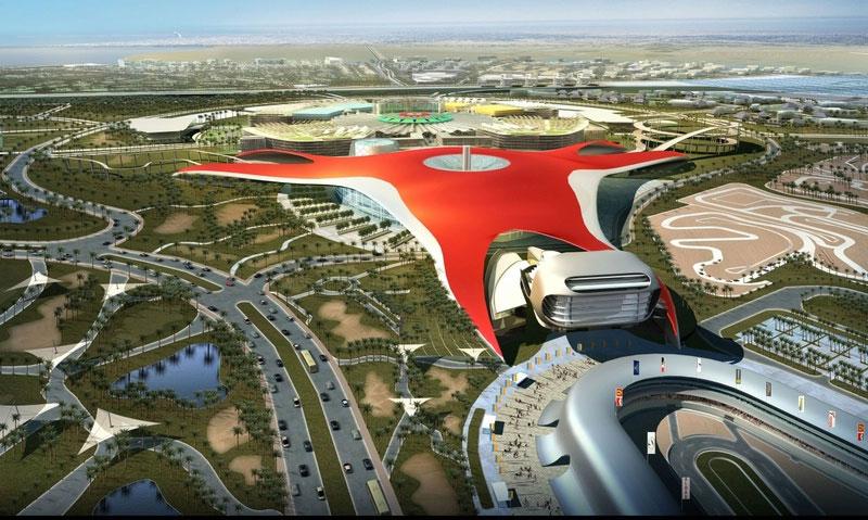 Ferrari начала строить тематический парк в Абу-Даби