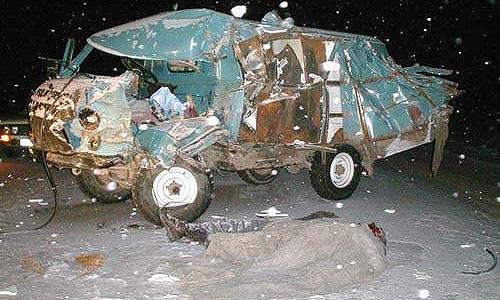 В крупном ДТП в Якутии пострадали 10 человек
