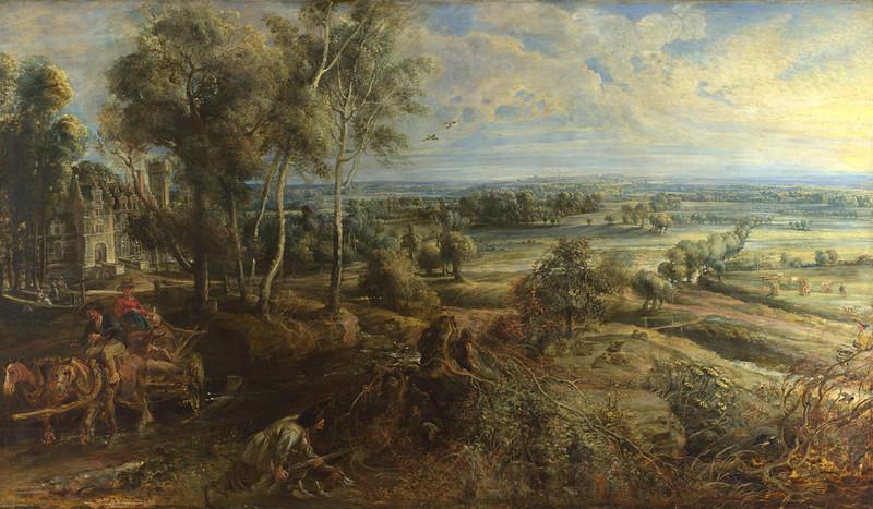 Питер Пауль Рубенс «Вид на замок Стеен ранним утром»