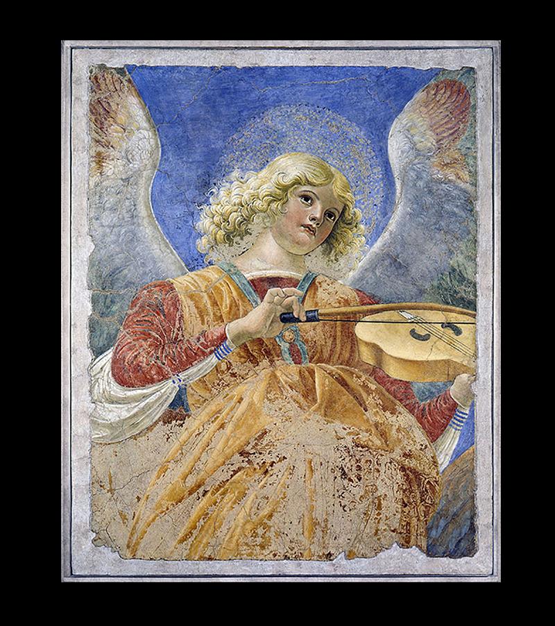 Мелоццо дельи Амбрози. «Aнгел, играющий на виоле»
