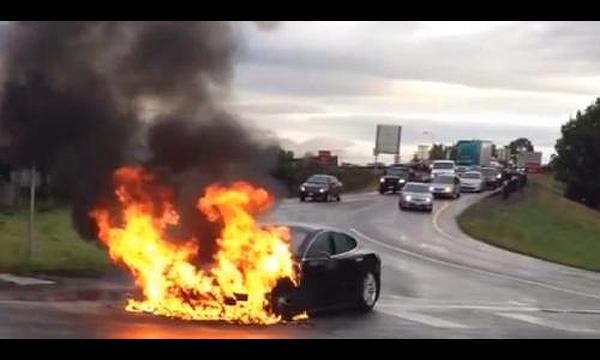 После возгорания Tesla Model S в США акции компании упали на 9,1%