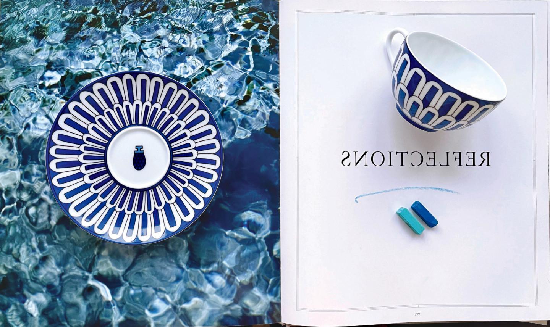 Чайная пара Bleus D`Ailleurs,Hermès