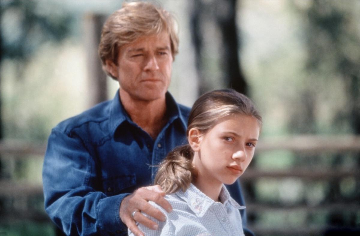 Роберт Редфорд и Скарлетт Йоханссон в фильме «Заклинателе лошадей», 1998