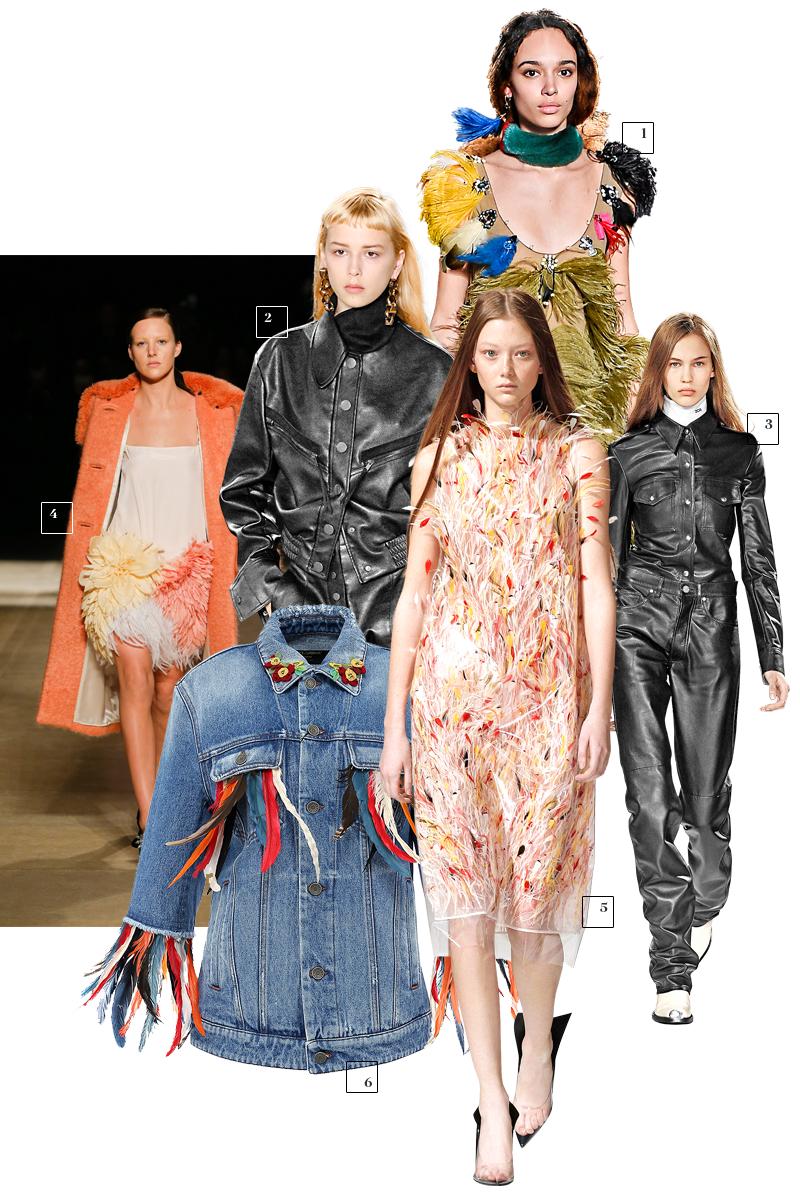 1 | Sonia Rykiel;2 | Stella McСartney; 3| Calvin Klein;4 | Miu Miu; 5| Calvin Klein; 6|Dolce & Gabbana