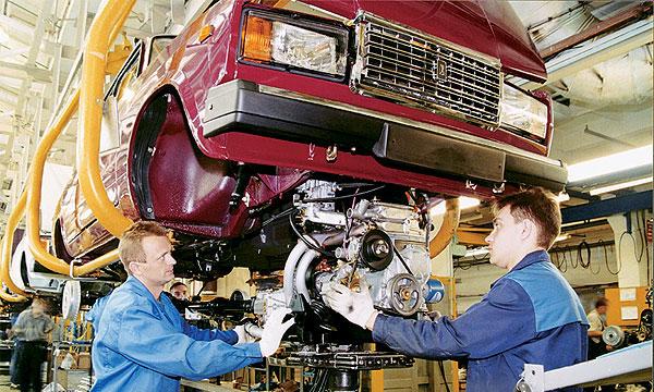 Производство автомобилей в России за 7 месяцев 2005г. снизилось