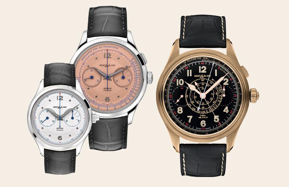 Часы Heritage Monopusher Chronograph, часы Heritage Manufacture Pulsograph, часы 1858 Split Second Chronograph
