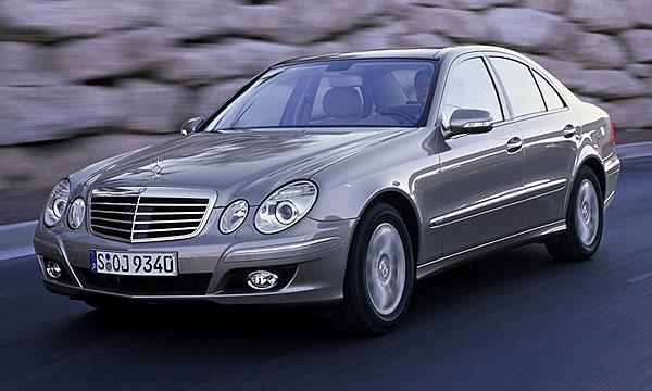 Бронированный Mercedes Е-класса внешне не отличается от стандартного