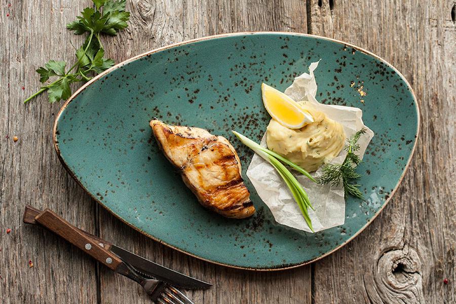 Горячее — Стейк из масляной рыбы