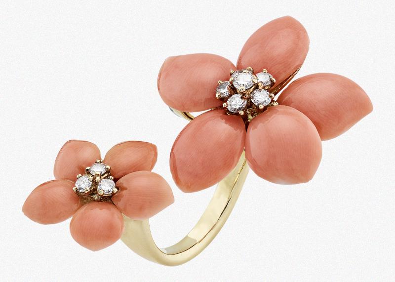 Кольцо на два пальца Two Flowers, 1974