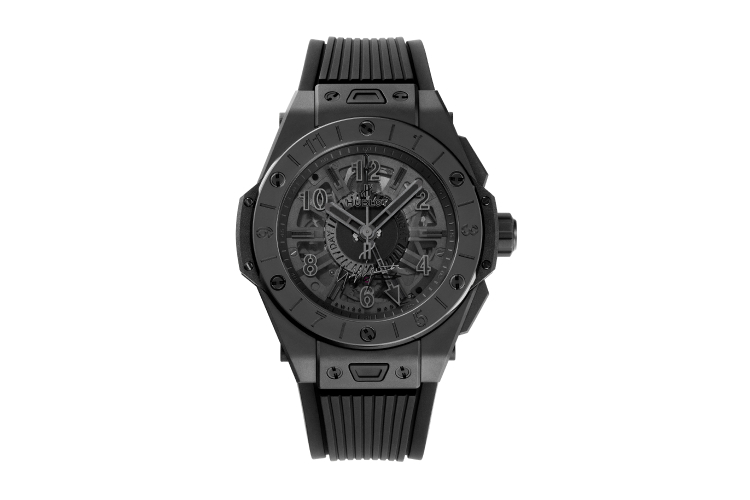 Часы Big Bang GMT All Black Yohji Yamamoto, Hublot