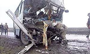 В Пермской области автобус столкнулся с автокраном