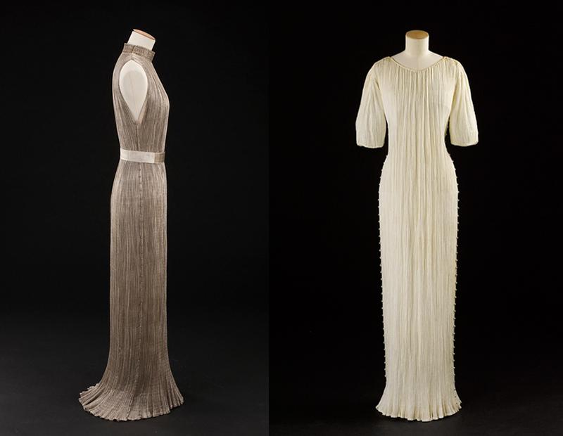 Платья Delphos, 1919-1920 (слева) и 1940-е (справа)