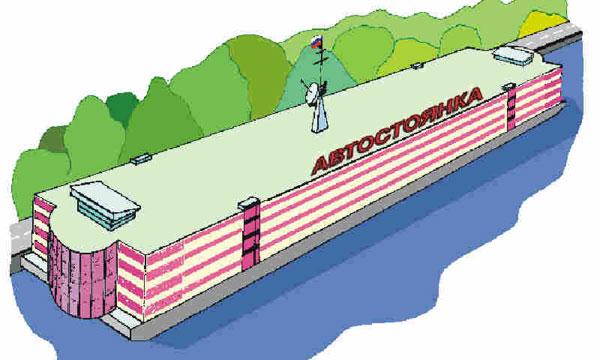 В Красноярске построят плавучие парковки