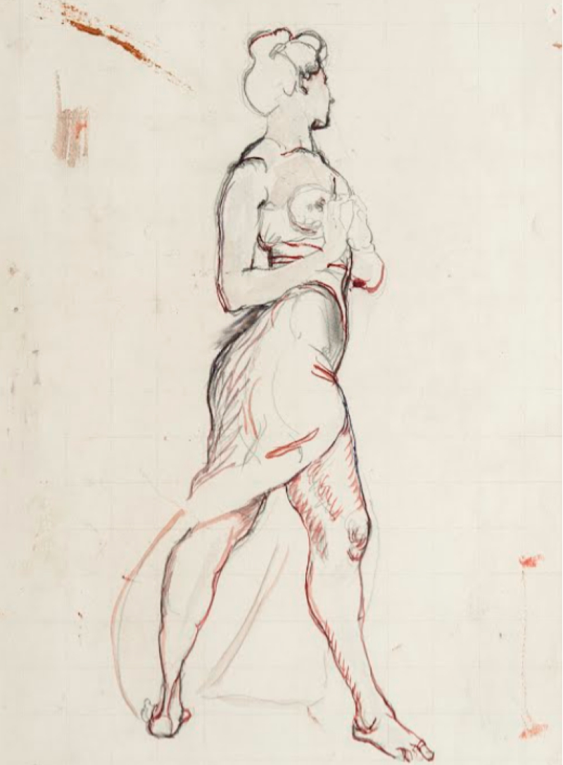 Фердинанд Ходлер, этюд, 1901