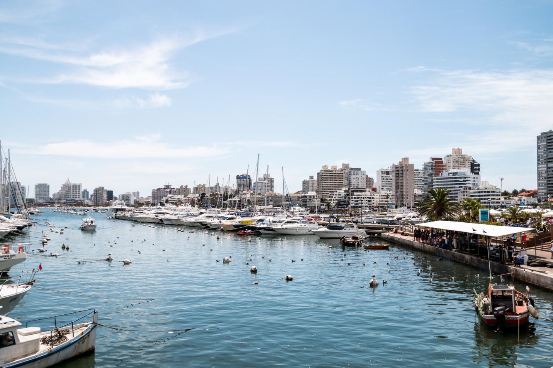 Порт в Пунта-дель-Эсте, Уругвай